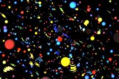 抽象图象背景发光的微粒 免版税库存图片