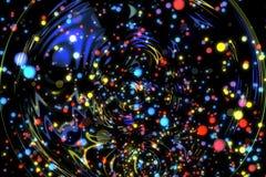 抽象图象背景发光的微粒 库存照片