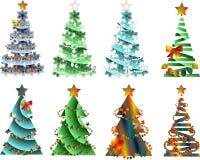 抽象图象,与装饰的圣诞树 免版税图库摄影