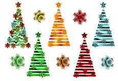抽象图象,风格化圣诞树 库存照片