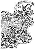 抽象图象 在黑白的背景 向量 皇族释放例证