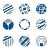 抽象圆商标和设计元素 皇族释放例证