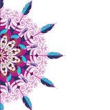 抽象圆样式,贺卡的装饰品 库存例证