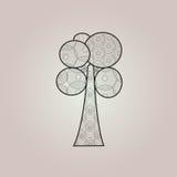 抽象圆环树 库存图片