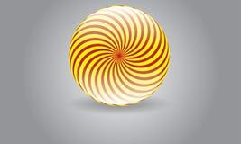 抽象圆球形商标传染媒介莫代尔被环绕的商标 库存图片