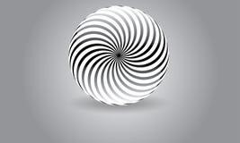 抽象圆球形商标传染媒介莫代尔被环绕的商标 免版税图库摄影