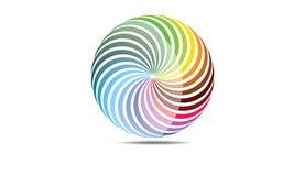 抽象圆球形商标传染媒介莫代尔被环绕的商标 库存照片
