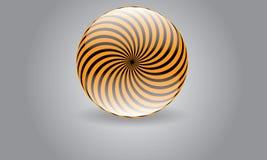抽象圆球形商标传染媒介莫代尔被环绕的商标 免版税库存照片