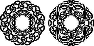 抽象圆的华丽对 向量例证
