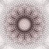 抽象圆的坛场在单色伽玛方形的背景中 免版税库存照片