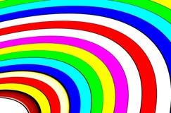 抽象圆的彩带-彩虹彩带 库存图片
