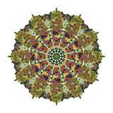 抽象圆的模式 向量 皇族释放例证