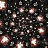 抽象圆的模式 免版税库存照片