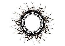 抽象圆的模板 创造横幅的黑一滴 库存图片