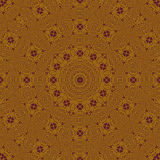 抽象圆的装饰品金子和紫色 免版税库存图片