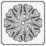 抽象圆的设计元素 免版税库存照片