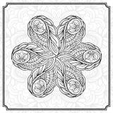 抽象圆的设计元素 免版税库存图片