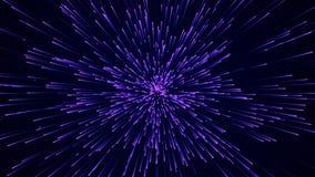 抽象圆速度背景 Starburst动态线样式 抽象数据流背景 3d?? 免版税库存照片