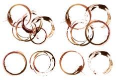 抽象圈子丙烯酸酯和水彩绘了设计元素 免版税库存照片