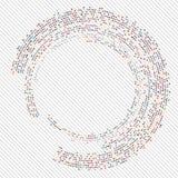 抽象圈子中间影调 库存图片