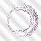 抽象圈子中间影调 向量例证