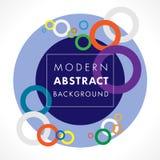 抽象圈子几何色的泡影设计和背景 免版税库存图片