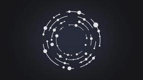 抽象圈子和线转动几何形式动画 皇族释放例证