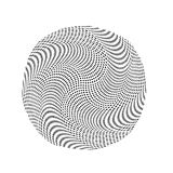抽象圈子商标设计,半音样式纹理 导航海报的,名片,明信片现代未来派背景 免版税图库摄影