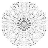 抽象圈子模式 免版税库存图片