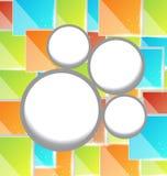 抽象圈子泡影,五颜六色的方形背景 皇族释放例证