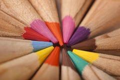 抽象圈子色的铅笔 免版税库存图片
