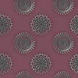 抽象圈子装饰银灰色紫罗兰 库存例证