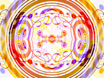 抽象圈子设计 皇族释放例证