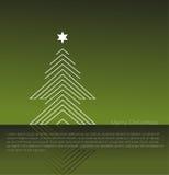 抽象圣诞树。 免版税图库摄影