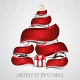 抽象圣诞树传染媒介背景 免版税库存照片