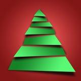 抽象圣诞树例证 免版税库存图片