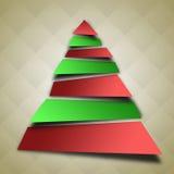 抽象圣诞树例证 免版税库存照片