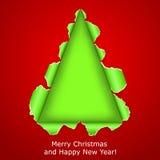 抽象圣诞树做ââof被撕毁的纸张 库存图片