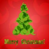 抽象圣诞树卡片eps10 免版税库存图片