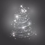 抽象圣诞树白色 库存图片