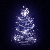 抽象圣诞树白色 免版税库存图片