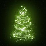 抽象圣诞树白色 库存照片