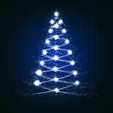 抽象圣诞树白色 免版税库存照片