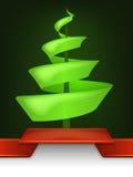 抽象圣诞树设计漩涡 免版税库存照片