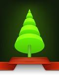 抽象圣诞树锥体设计 免版税库存照片