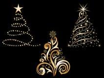 抽象圣诞树集合 免版税图库摄影