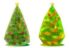 抽象圣诞树,向量 免版税库存图片