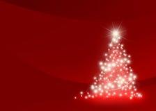 抽象圣诞树 库存照片