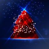 抽象圣诞树 免版税库存照片