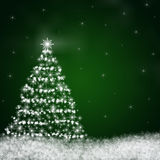 抽象圣诞树 库存图片